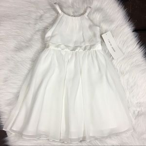 Davids Bridal White Flower Girl Dress Size 3